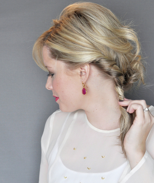 Side Updo With a Twist, Step 4