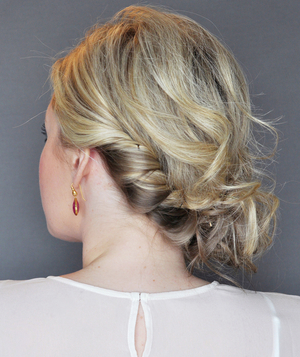 Side Updo With a Twist, Step 5