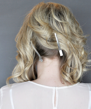 Side Updo With a Twist, Step 1
