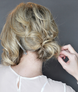 Side Updo With a Twist, Step 2