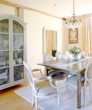 French accented dining room