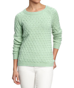 Old Navy Honeycomb-Knit Crew Sweaters