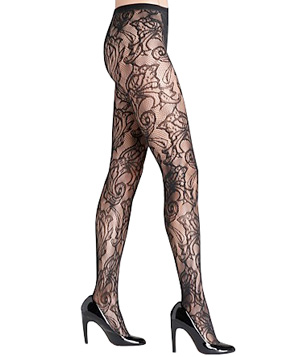 Hue Floral Swirl Net Tights
