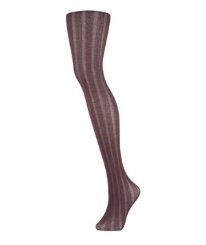Topshop Wine Modal Ribbed Tights