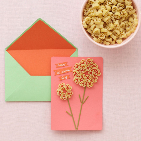 Valentine's Day crafts for kids: How to Make Pasta Valentines