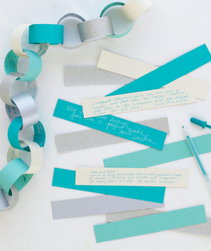 Paper chain as guest book