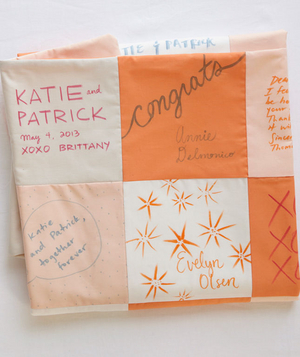 Quilt squares as guest book