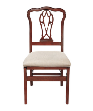Chippendale Pierced-Back Folding Chair