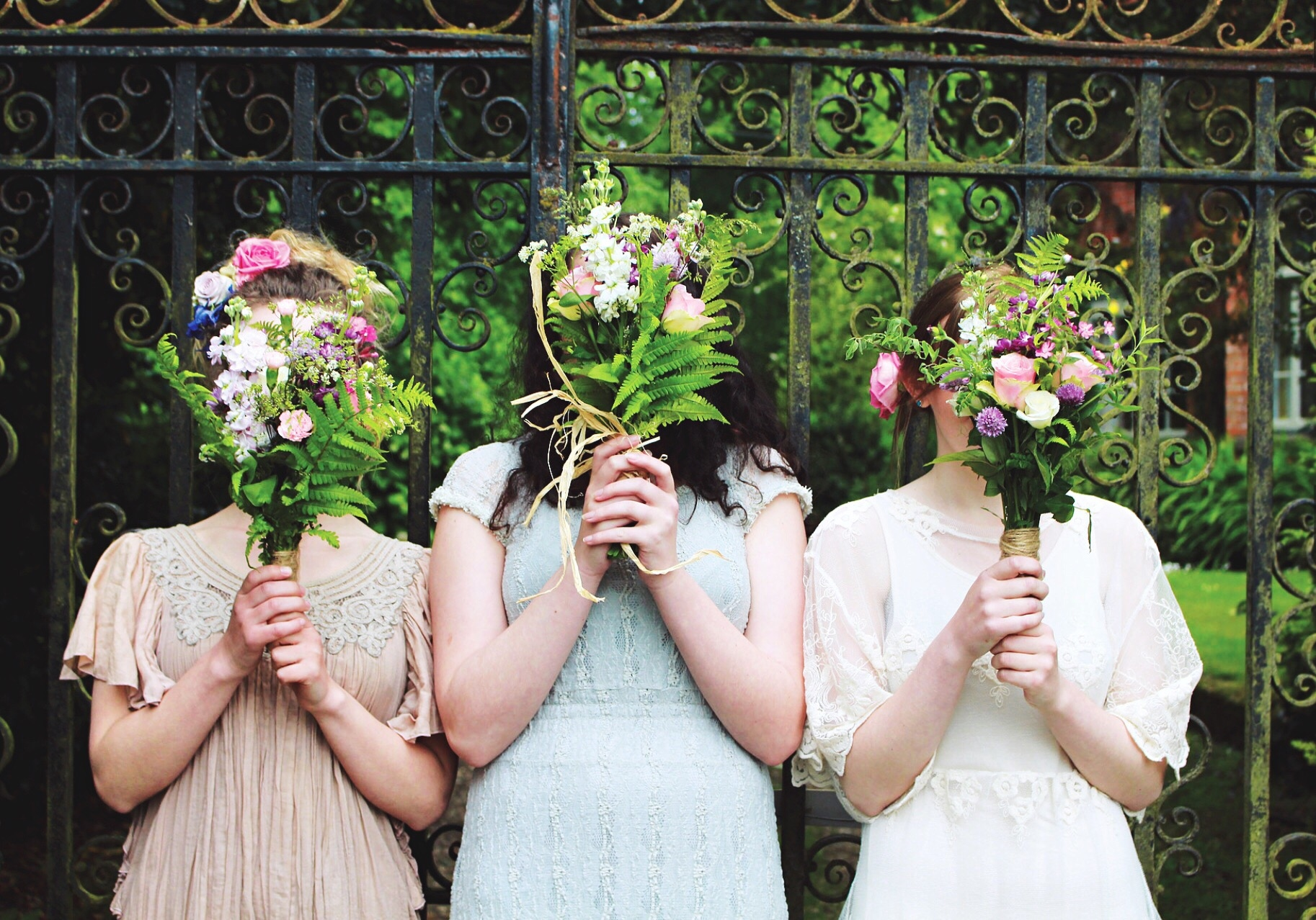 Holly Curtis and her bridesmaids