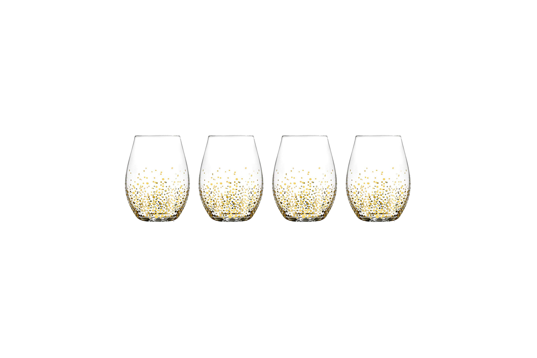 Fitz and Floyd Luster Stemless Gold Glasses