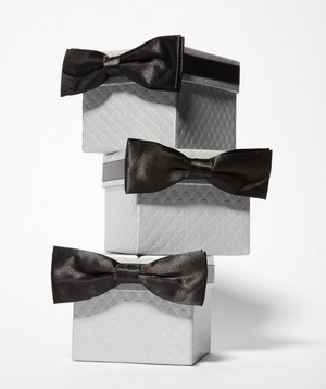 Gray and black presents
