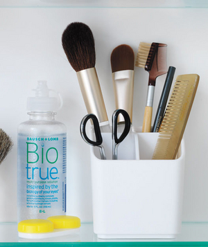 Cosmetic caddy for everyday beauty tools