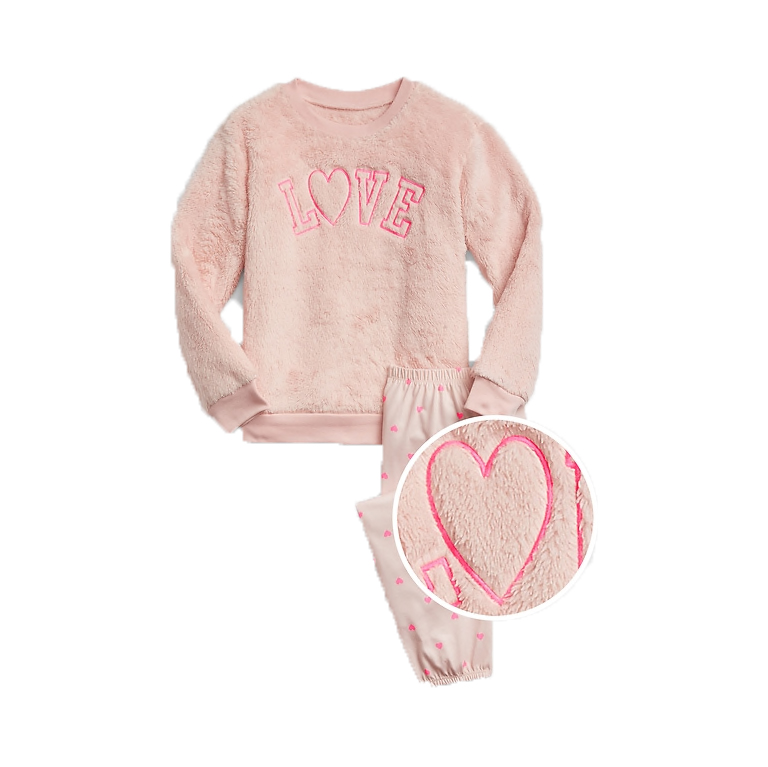 Cute Valentine's Day gifts for kids - Gap Kids Love Fuzzy PJ Set