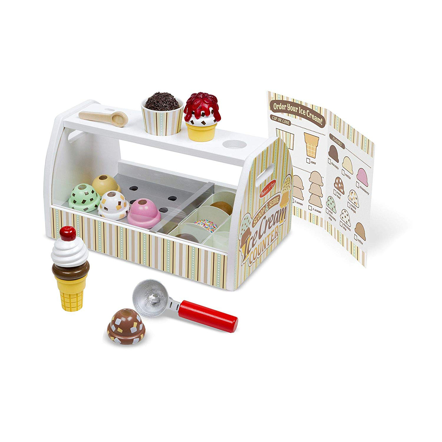 Cute Valentine's Day gifts for kids - Melissa & Doug Wooden Scoop & Serve Ice Cream Counter