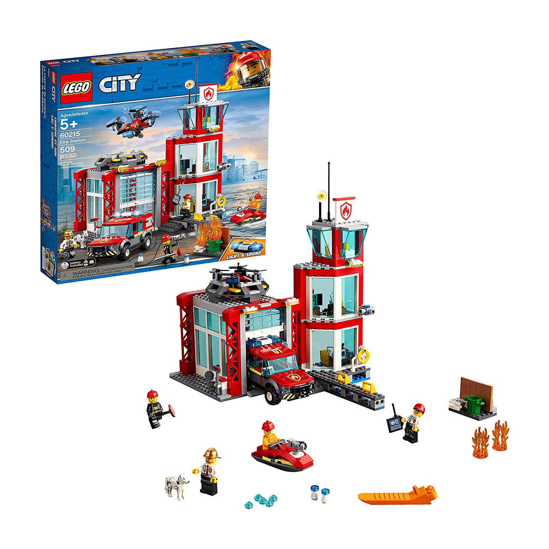 Cute Valentine's Day gifts for kids - LEGO City Fire Station Set