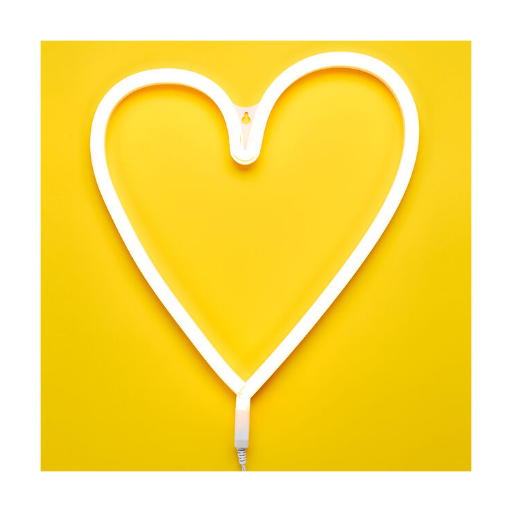 Cute Valentine's Day gifts for kids - Neon Heart Light