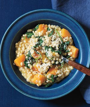 Baked Barley Risotto With Butternut Squash