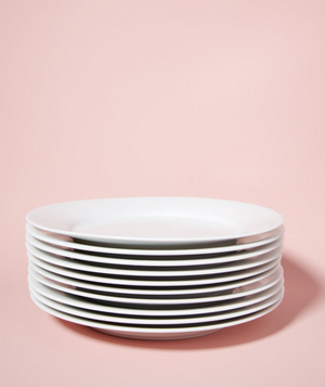 Stack of dinner plates