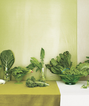 Table full of greens