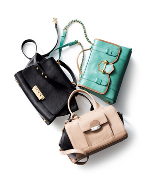 Three leather bags