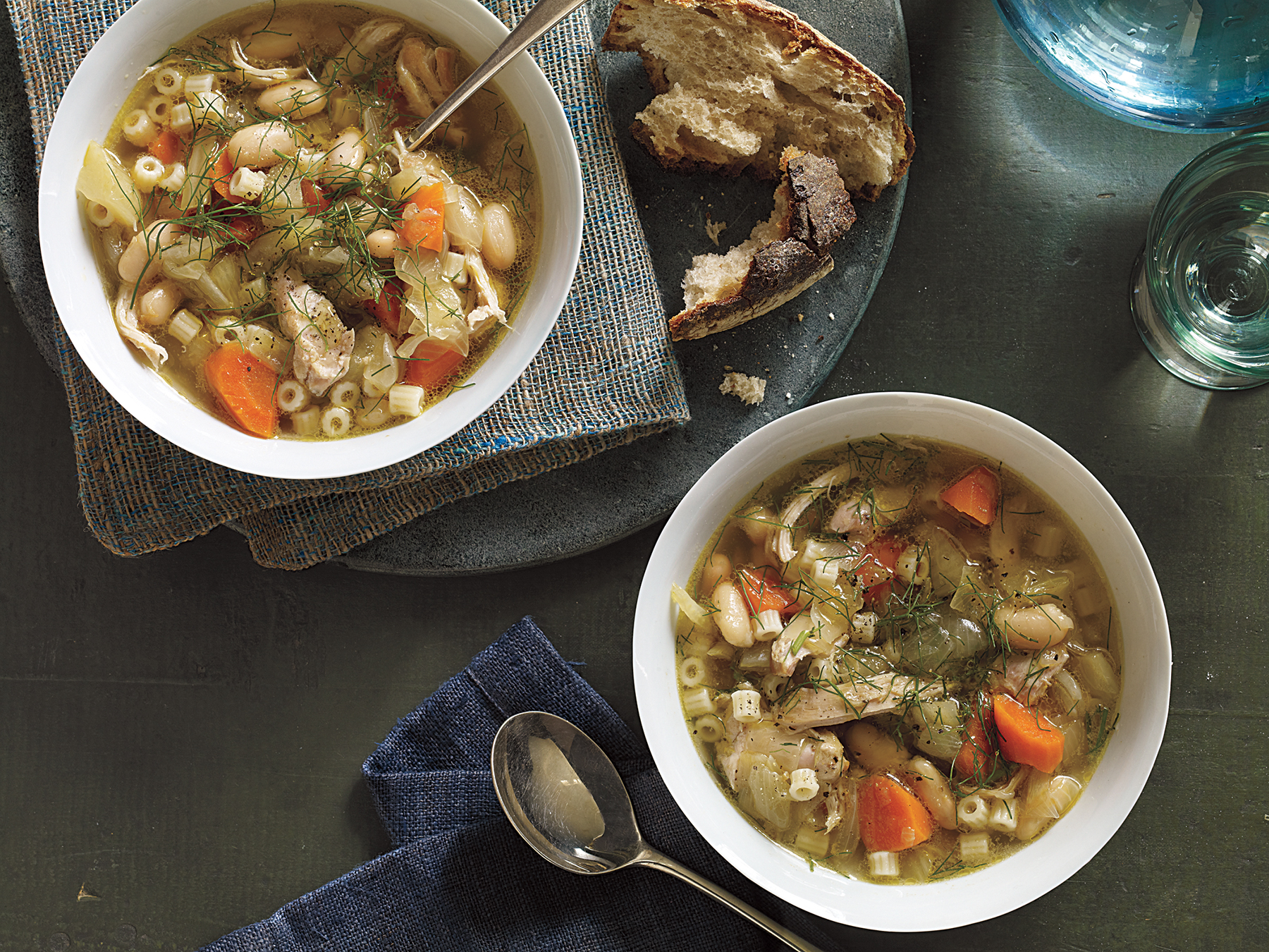 Chicken, Fennel, and White Bean Soup