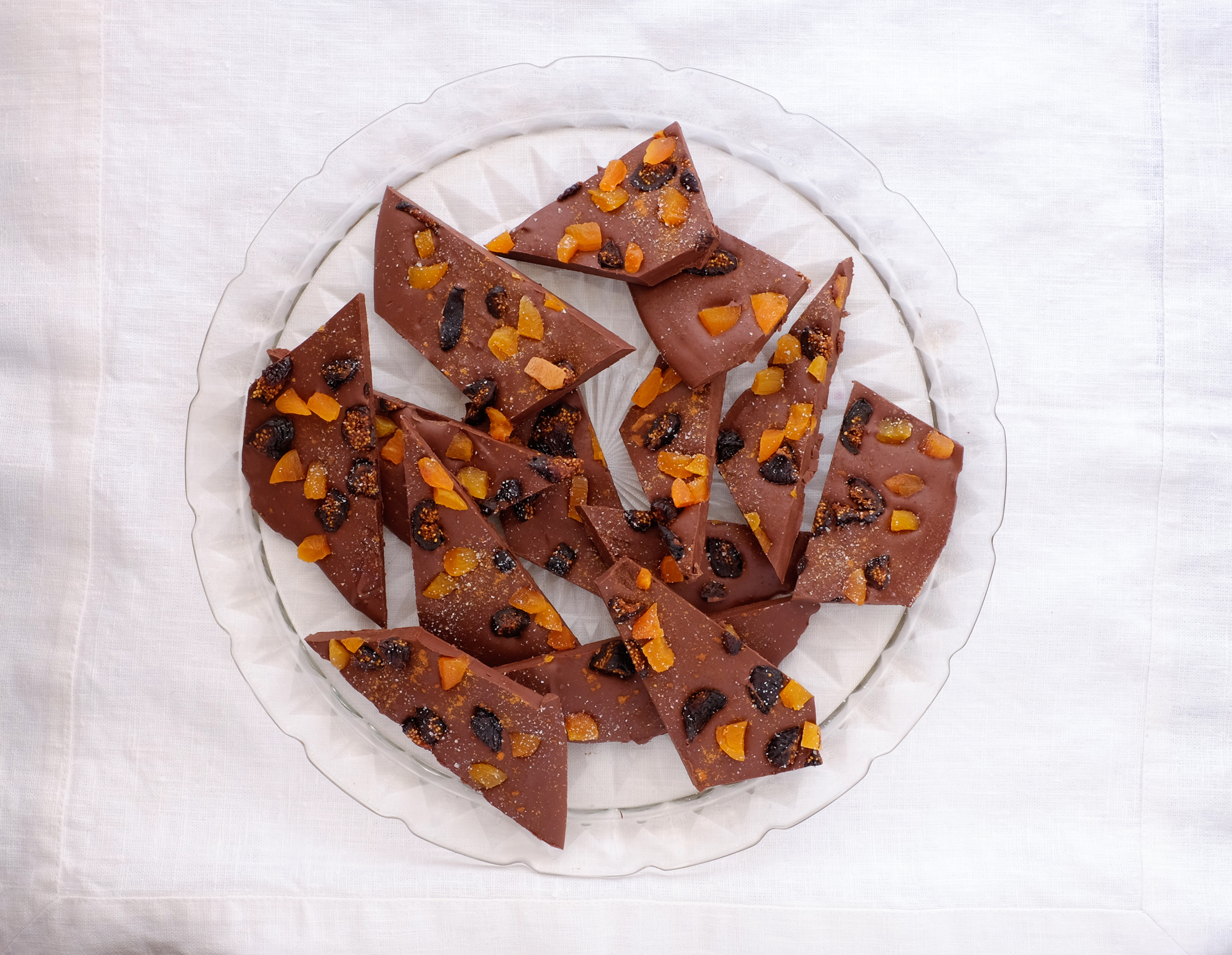 Chocolate Bark With Dried Fruit and Spices