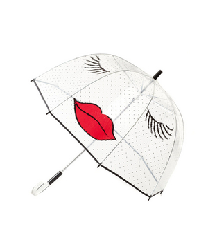 Felix Rey Kissy Face Clear Umbrella