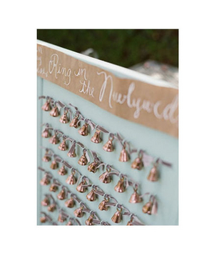 Small bells as escort cards