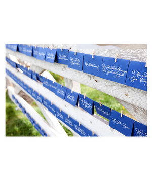 Fence holding place cards