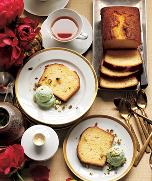 Lemon Buttermilk Cake With Pistachio Ice Cream