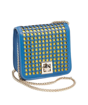 Poverty Flats by Rian Perforated Mini Clutch