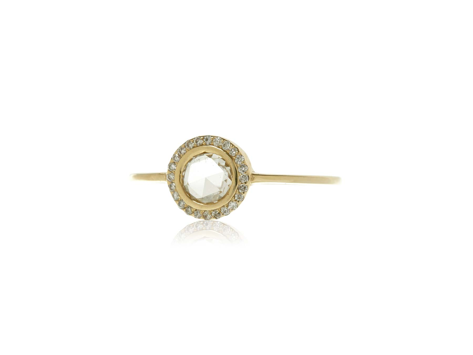 Apres Jewelry The Rose Cut Halo Ring