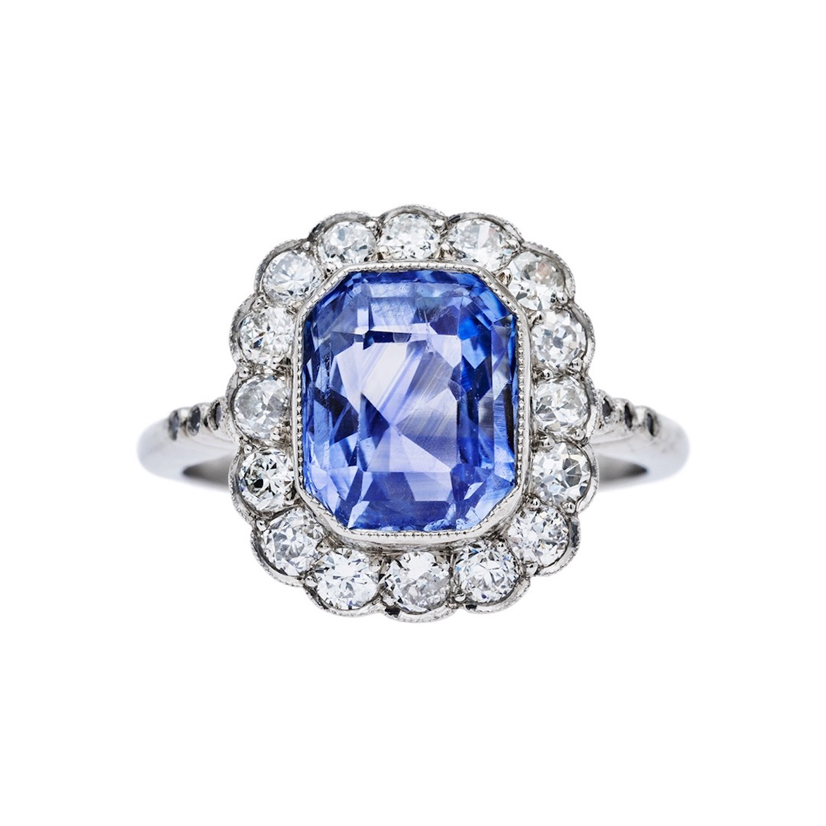 art deco sapphire ring from Trumpet & Horn
