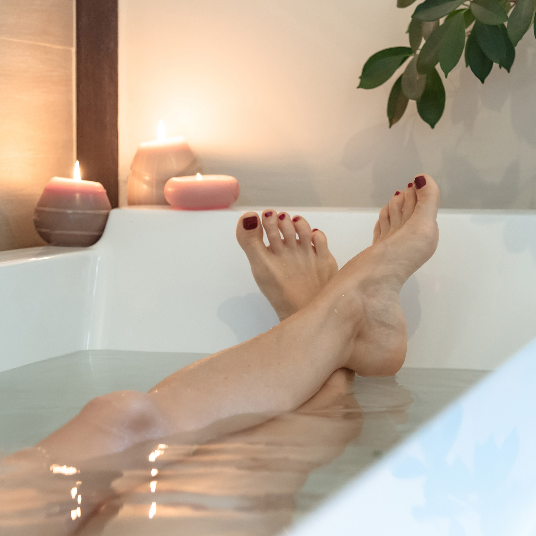 Ways to Be Healthy: woman taking a bath