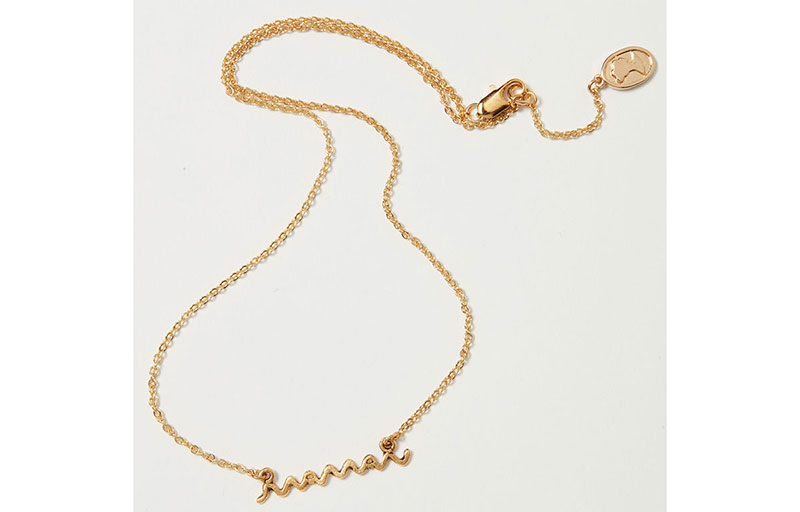 "Mother's Day gifts: gold ""maman"" necklace"