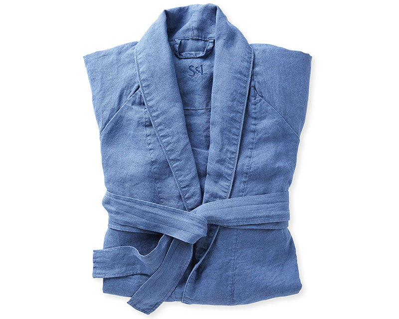 Mother's Day gifts: blue linen robe