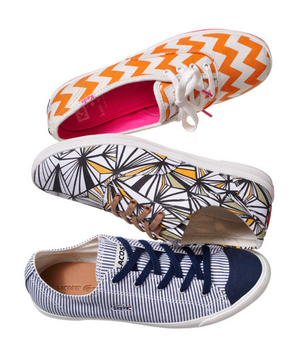 Bold, graphic patterned sneakers