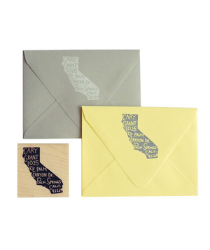 Home State Personalized Return Address Stamp