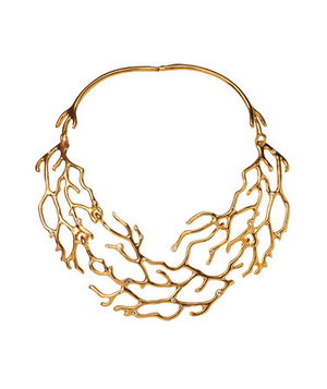 C. Wonder necklace of glass and gold plate