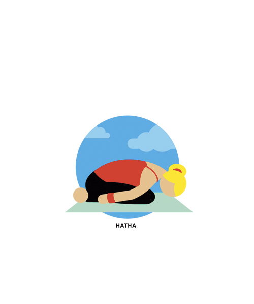 Illustration of hatha yoga