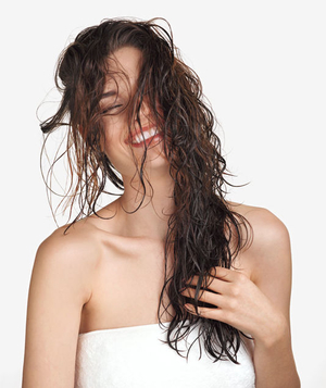 Model with wet hair