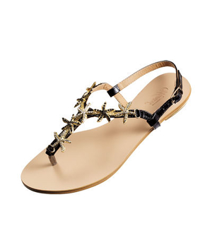 Wanted faux-leather sandals
