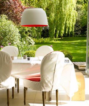 Casual and modern dining table outdoors
