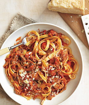 Pasta with Slow-Cooker Pork Ragù