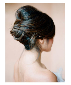 Bride with a French twist