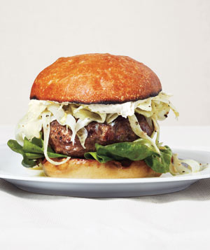 Lamb Burgers With Tangy Fennel Slaw