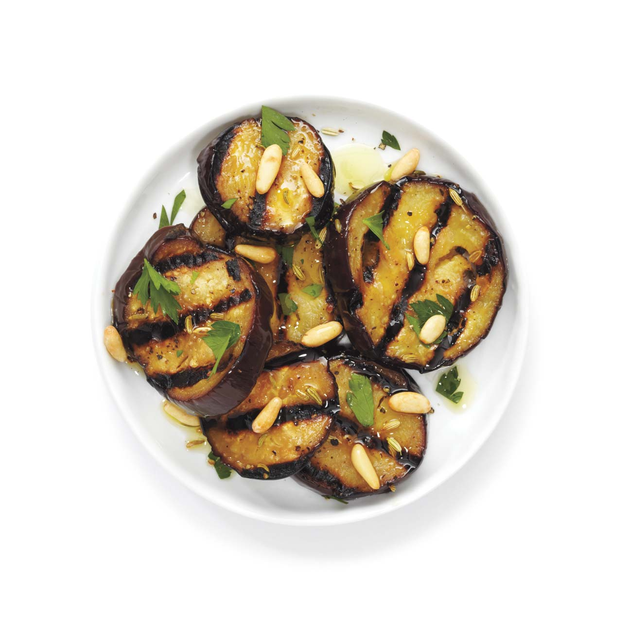 Grilled Eggplant With Parsley and Pine Nuts