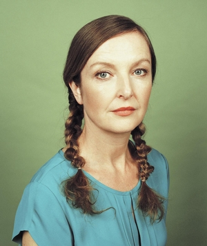 Woman with two braids