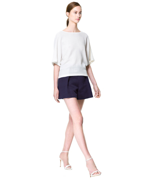 Zara Front Pleat Shorts