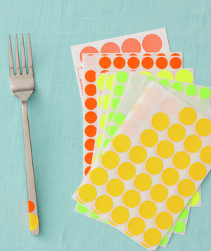 Fork and office sticky dots